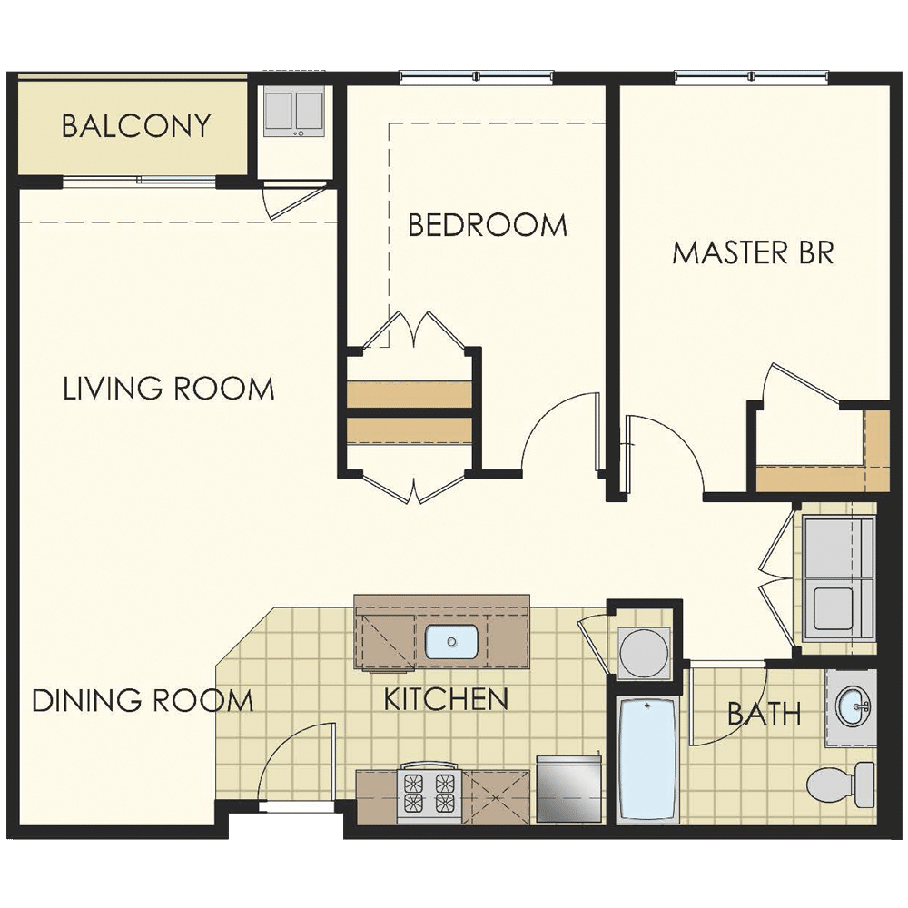 Station at Lyndhurst Two Bedroom Floor Plan Unit B11