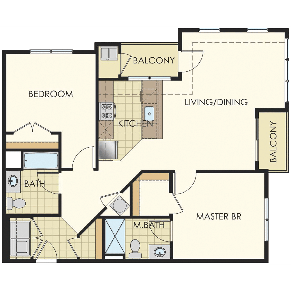 Station at Lyndhurst Two Bedroom Floor Plan Unit B6