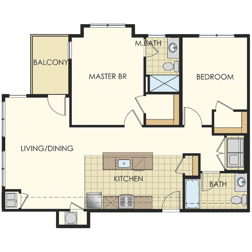 Station at Lyndhurst Two Bedroom Floor Plan Unit B7