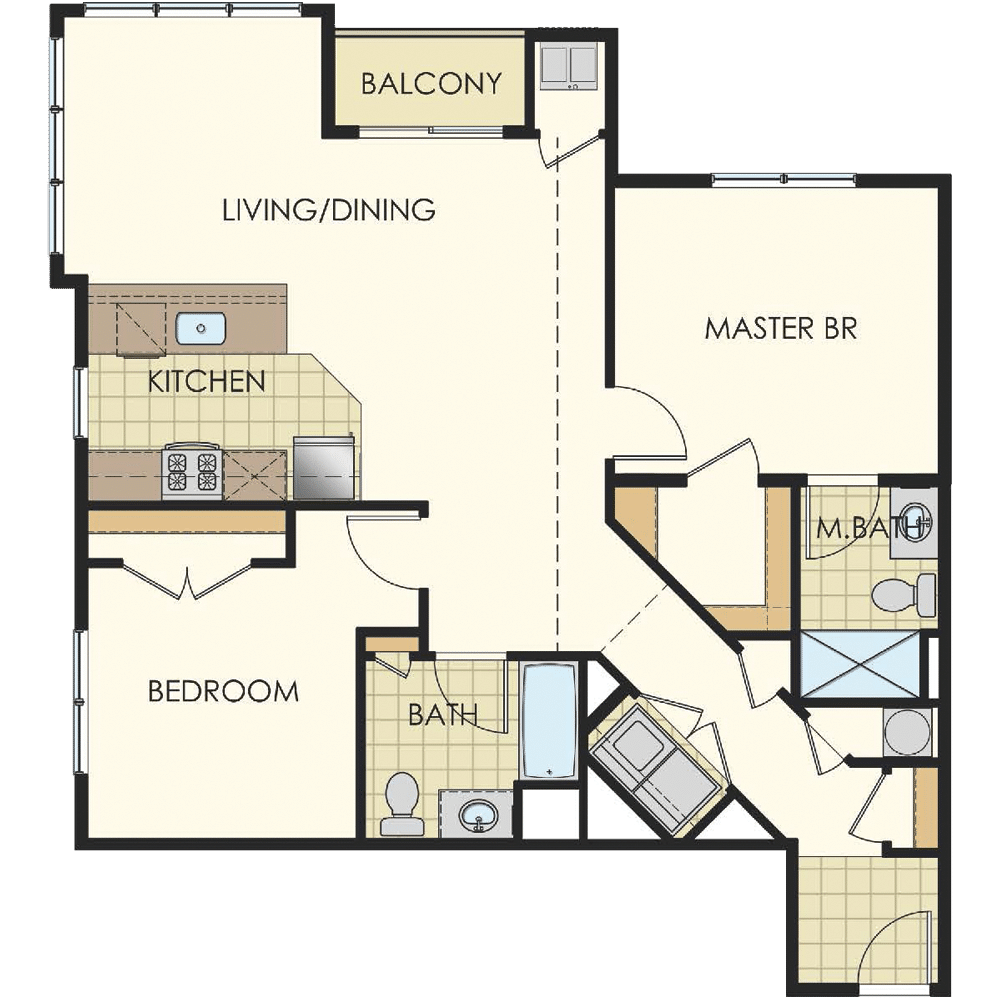 Station at Lyndhurst Two Bedroom Floor Plan Unit B10