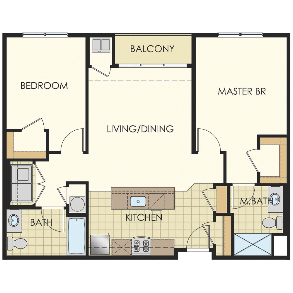 Station at Lyndhurst Two Bedroom Floor Plan Unit B14