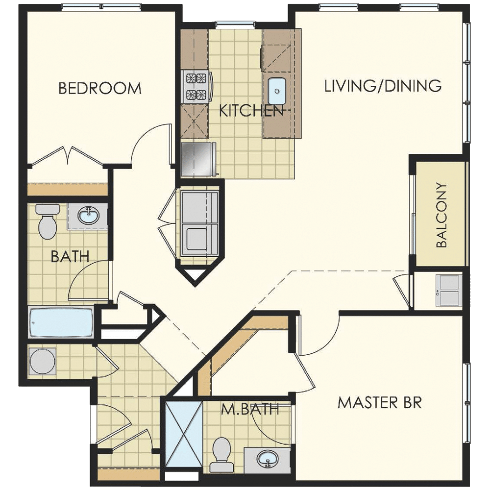 Station at Lyndhurst Two Bedroom Floor Plan Unit B5