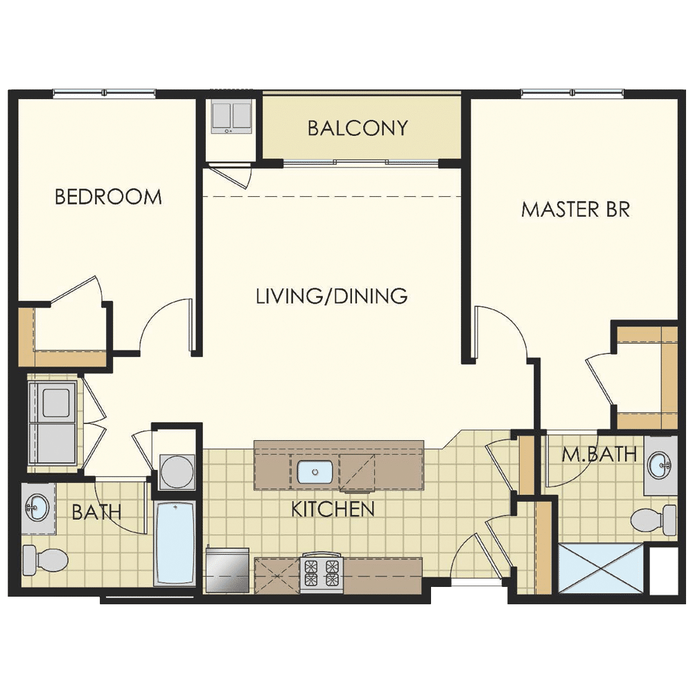 Station at Lyndhurst Two Bedroom Floor Plans