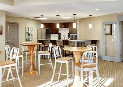 resident lounge with café at The Station at Lyndhurst apartments