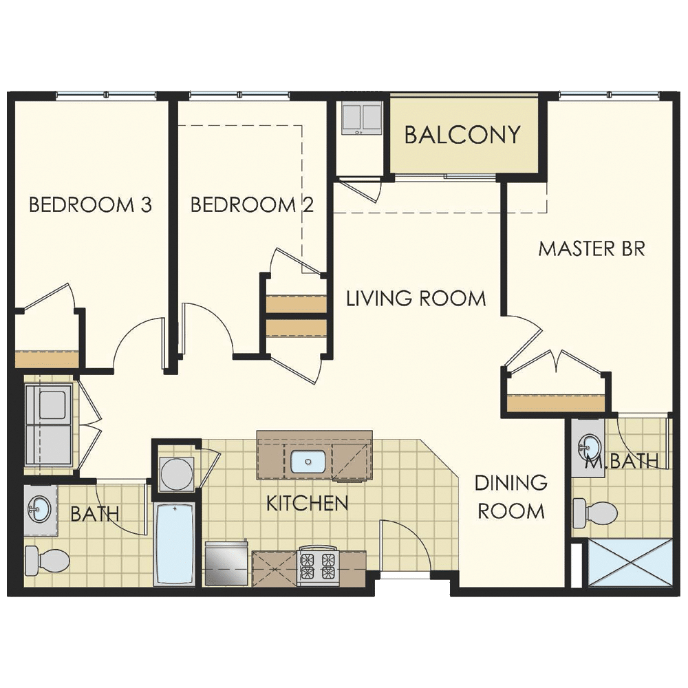 Station at Lyndhurst Three Bedroom Floor Plans C1