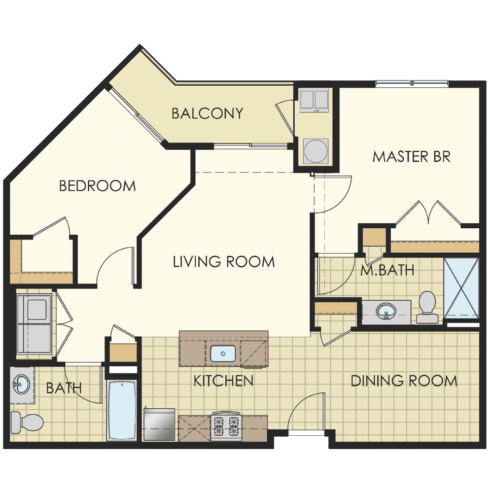 Station at Lyndhurst Two Bedroom Floor Plan Unit B3