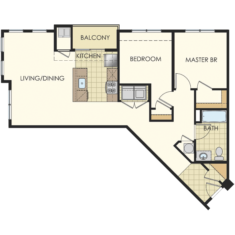 Station at Lyndhurst Two Bedroom Floor Plan Unit B12