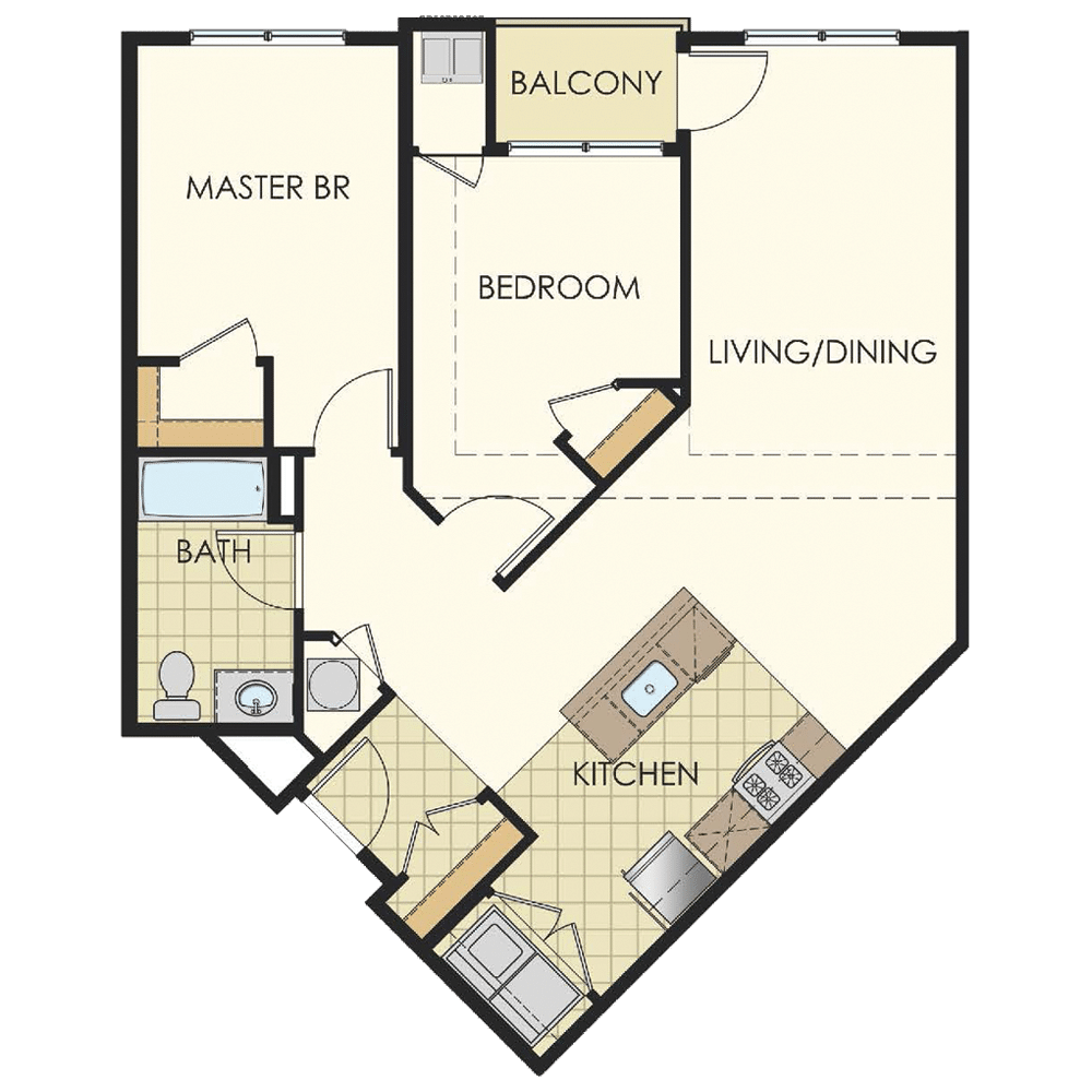 Station at Lyndhurst Two Bedroom Floor Plan Unit B13