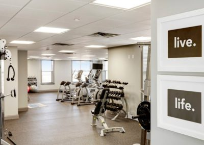 on-site fitness center at The Station at Lyndhurst apartments