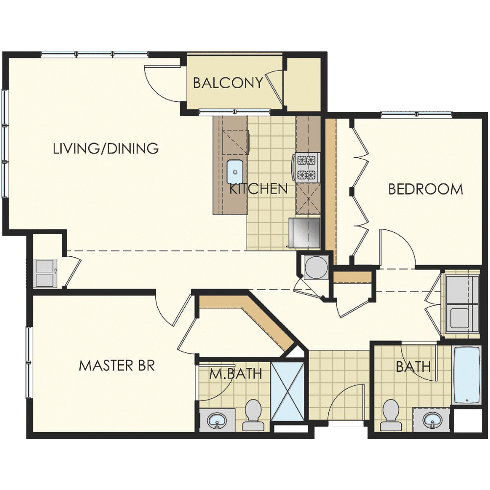 Station at Lyndhurst One Bedroom Floor Plan Unit B9