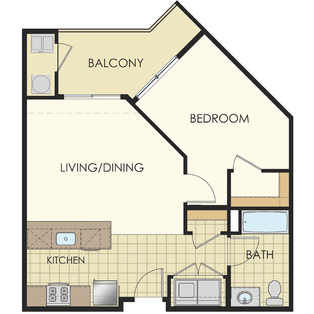 Station at Lyndhurst One Bedroom Floor Plans