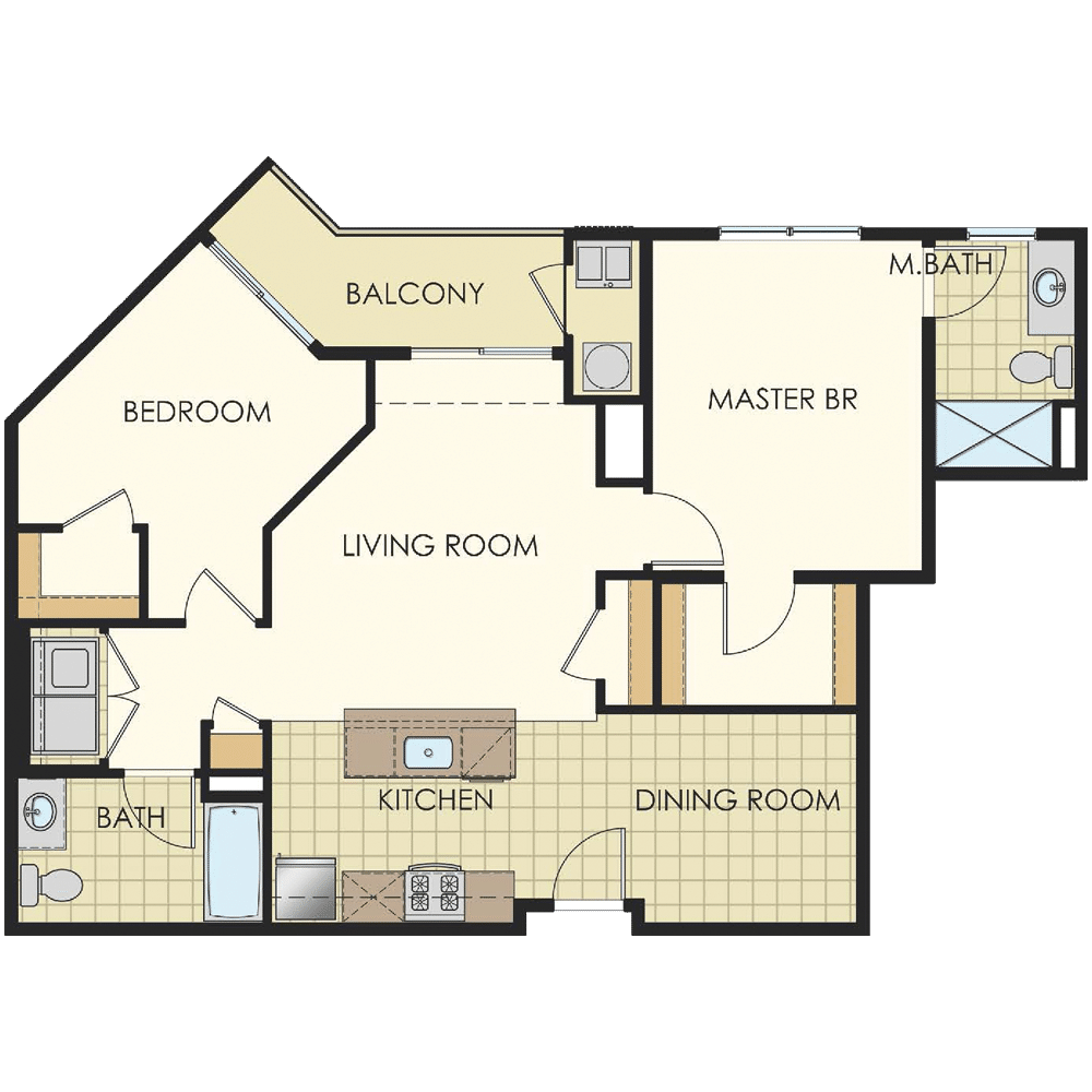 Station at Lyndhurst Two Bedroom Floor Plan Unit B4